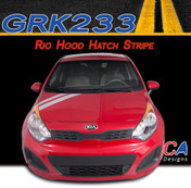 2011-2015 Kia Rio Hood Hatch Vinyl Racing Stripe Kit (M-GRK233)