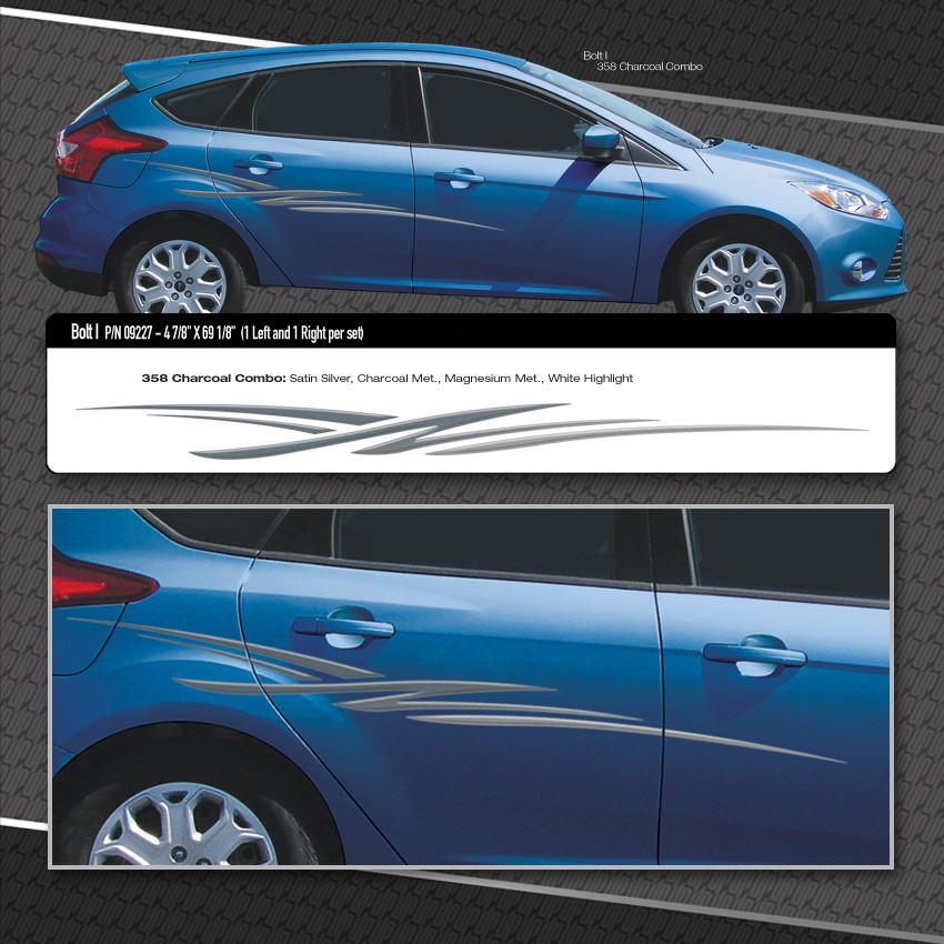Black Car Decal Vinyl Graphics Two Side Stickers Body ... |Automotive Vinyl Graphics
