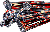 GEOMETRIC PISTON SKULL (Reds) : High Definition Automotive Vinyl Graphics (M-SKG-10)