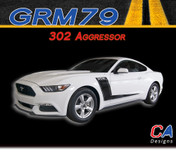 2015-2016 Ford Mustang 302 Aggressor Vinyl Graphic Stripe Package Kit (M-GRM79)