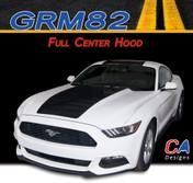 2015-2016 Ford Mustang Full Center Vinyl Graphic Stripe Package Kit (M-GRM82)
