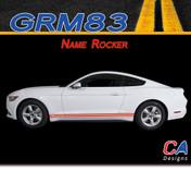 2015-2016 Ford Mustang Name Rocker Vinyl Graphic Stripe Package Kit (M-GRM83)