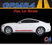 2015-2016 Ford Mustang Final Lap Rocker Vinyl Graphic Stripe Package Kit (M-GRM84)