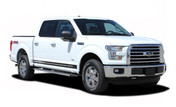 F-150 BREAKOUT ROCKER : 2015 2016 2017 2018 Ford F-150 Rocker Panel Stripes Vinyl Graphic Decals (M-PDS3528)