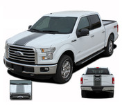 F-150 CENTER STRIPE : Ford F-150 Racing Stripes Vinyl Graphics and Decals Kit for 2015 2016 2017 2018 Models (M-PDS3523)
