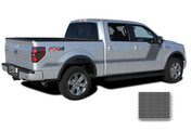 "FORCE TWO Screen Print : Ford F-150 ""Appearance Package Style"" Hockey Stripe Vinyl Graphics Decals Kit 2009-2014 and 2015 2016 2017 2018 Models (M-PDS3518)"