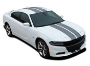 2015 2016 2017 2018 2019 N-CHARGE RALLY : Racing Stripe Rally Style Vinyl Graphics Decal Stripe Kit for Dodge Charger (M-PDS3592-97)