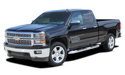 SHADOW : 2014 2015 2016 2017 Chevy Silverado Vinyl Graphic Decal Lower Body Accent Stripe Kit (M-PDS3688)