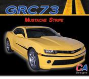 2014-2015 Chevy Camaro Mustache Stripe : Vinyl Graphics Kit (M-GRC73)
