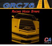 2010-2013 Chevy Camaro Racing Hood Stripe : Vinyl Graphics Kit (M-GRC76)