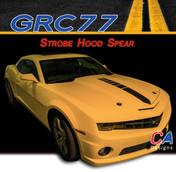2010-2013 Chevy Camaro Strobe Hood Spear Stripe : Vinyl Graphics Kit (M-GRC77)