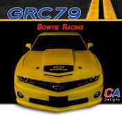 2010-2013 Chevy Camaro Bowtie Racing Hood Decal : Vinyl Graphics Kit (M-GRC79)