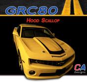 2010-2013 Chevy Camaro Hood Scallop : Vinyl Graphics Kit (M-GRC80)