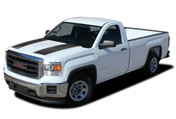 "SIERRA RALLY : 2014 2015 2016 2017 2018 ""Rally Edition Style"" GMC Sierra Vinyl Graphic Decal Racing Stripe Kit (M-PDS4019)"