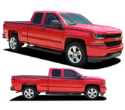 ACCELERATOR : 2014 2015 2016 2017 2018 Chevy Silverado Upper Body Line Accent Rally Side Vinyl Graphic Decal Stripe Kit (PDS-4403)