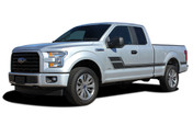 ELIMINATOR : Ford F-150 Side Door Hockey Style Rally Stripes Vinyl Graphics and Decals Kit for 2015 2016 2017 2018 Models (M-PDS-4777)