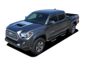 SPORT PRO : 2015 2016 2017 2018 2019 Toyota Tacoma TRD Sport and TRD Pro Hood Blackout Vinyl Graphic Stripes Decal Kit (M-PDS-4831)