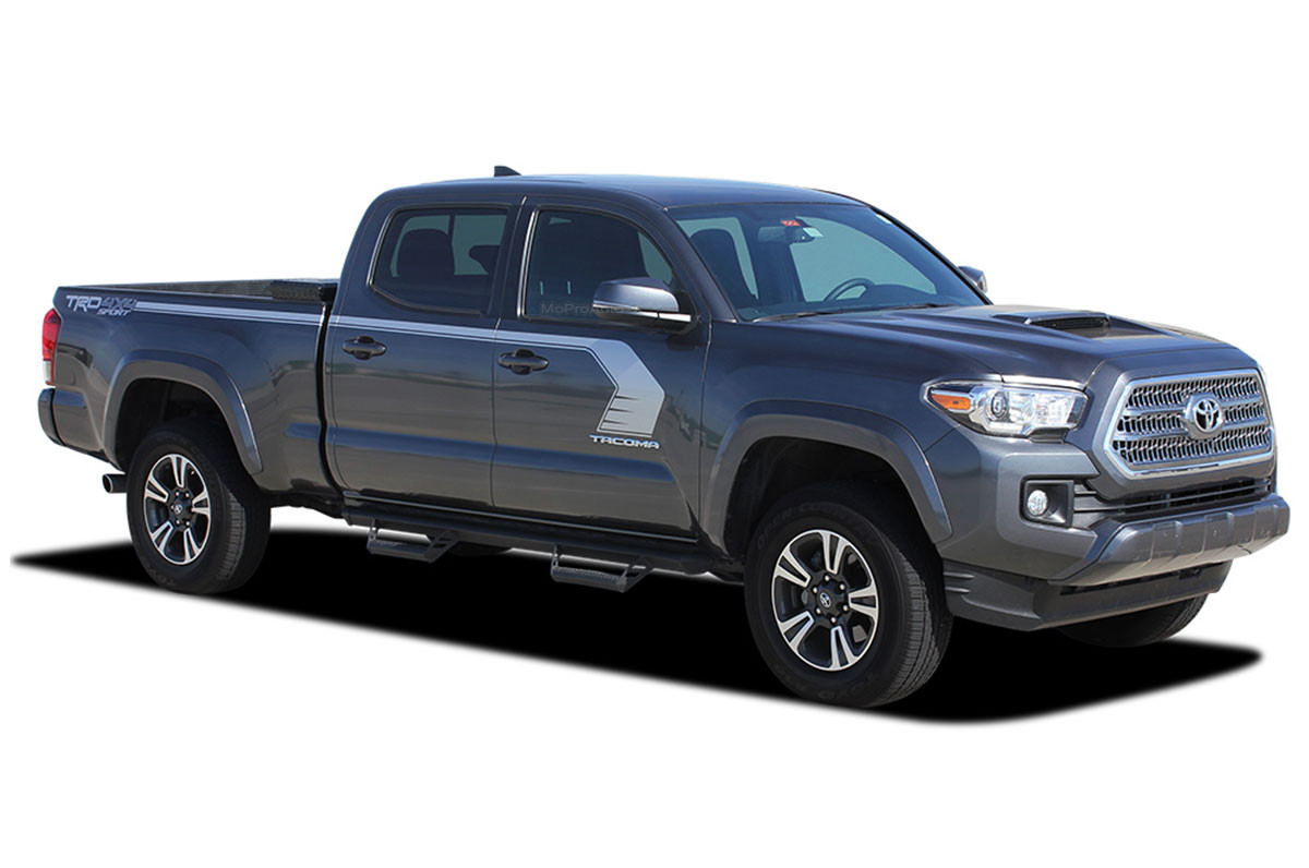 tacoma toyota trd side decal vinyl stripes kit graphics sport body decals graphic door storm hockey upper moproauto truck series