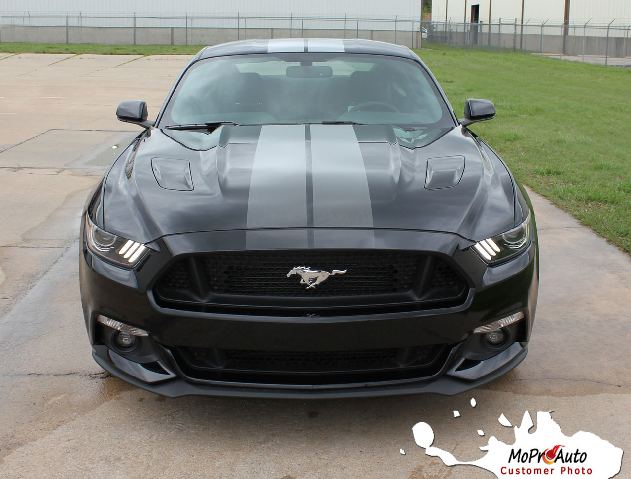 Fade Rally Ford Mustang Racing Stripes 2015 2016 2017