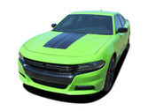 2015 2016 2017 2018 SINISTER HOOD : Dodge Charger Daytona Hemi SRT 392 Style Center Hood Vinyl Graphic Decals and Stripe Kit (PDS-4929)