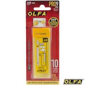 OLFA® 9mm Silver Snap-Off Blades, 10 Pack (AB-10B) by Olfa (M-OLFA-AB-10B)