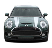 CLUBMAN HOOD : 2016-2018 Mini Cooper Hood Stripes Vinyl Graphic Decal Kit (M-PDS-4229)