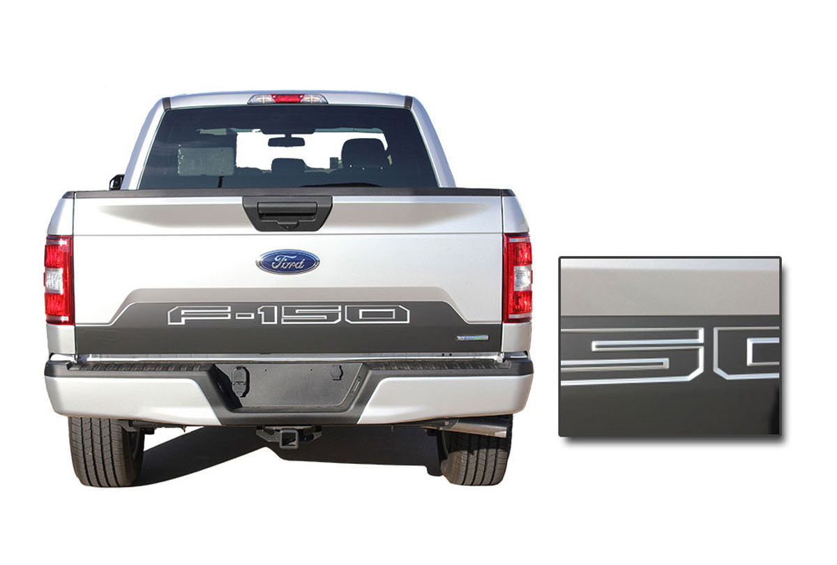 Speedway Tailgate Ford F 150 Decals Rear Blackout Inlays