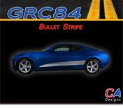 2016-2018 Chevy Camaro Bullet Stripe Side Door Rocker Vinyl Graphic Decal Kit (M-GRC84)