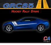 2016-2018 Chevy Camaro Hockey Rally Stripe Side Door Rocker Vinyl Graphic Decal Kit (M-GRC85)