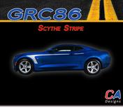 2016-2018 Chevy Camaro Scythe Stripe Side Door Rocker Vinyl Graphic Decal Kit (M-GRC86)