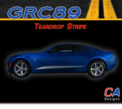 2016-2018 Chevy Camaro Teardrop Stripe Side Door Lower Rocker Vinyl Graphic Decal Kit (M-GRC89)
