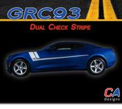 2016-2018 Chevy Camaro Dual Check Stripe Side Door Vinyl Graphic Decal Kit (M-GRC93)