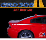 2015-2018 Dodge Charger Stripes Decals SRT Body Line Quarter Panel Accent Vinyl Graphic Kit (M-GRD308)