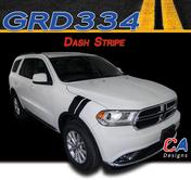 2010-2018 Dodge Durango Dash Hood Stripe Vinyl Striping Graphic Kit (M-GRD334)