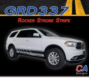 2010-2018 Dodge Durango Rocker Strobe Stripe Vinyl Striping Graphic Kit (M-GRD337)