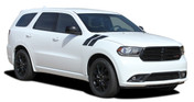 DURANGO DOUBLE BAR : 2011-2018 Dodge Durango Hood Hash Marks Stripes Decals Vinyl Graphics Kit (M-PDS-5543)