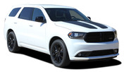 PROPEL HOOD : 2011 2012 2013 2014 2015 2016 2017 2018 Dodge Durango Split Hood Stripes Decals Vinyl Graphics Kit (M-PDS-5521)