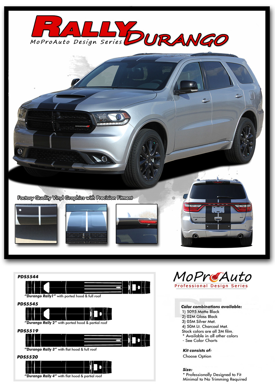 DODGE DURANGO RALLY Racing - MoProAuto Pro Design Series Vinyl Graphics and Decals Kit
