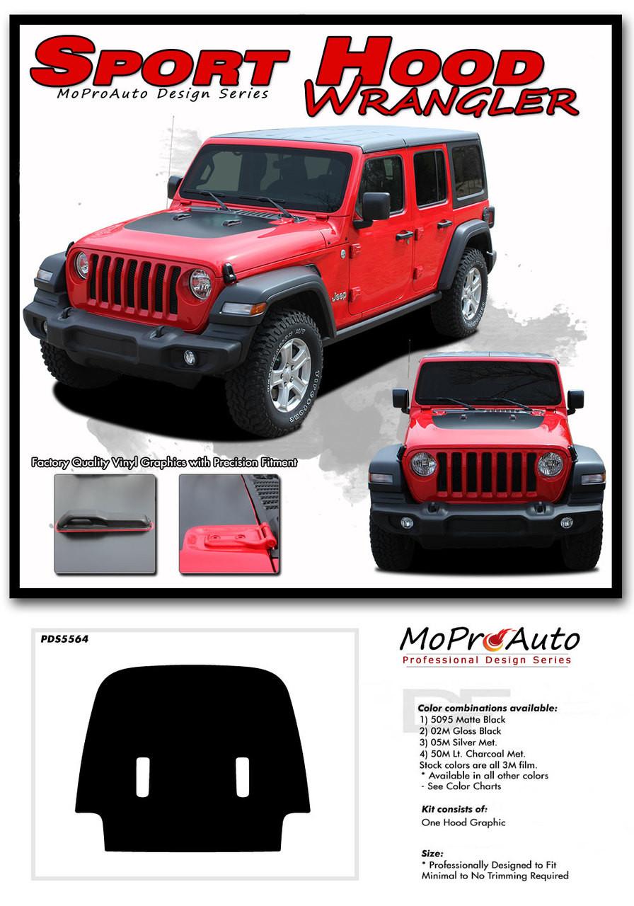 2018 2019 Jeep Wrangler - MoProAuto Pro Design Series Vinyl Graphics, Stripes and Decals Kit