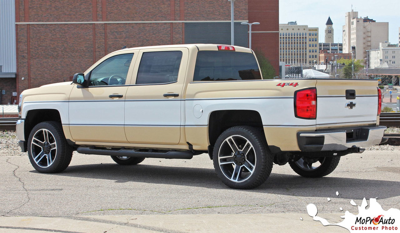 CHEYENNE RETRO : 2014-2018 Chevy Silverado Mid-Body Wrap ...