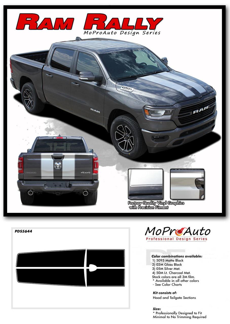 2019 2020 Dodge Ram Racing Stripes Hood Decals RALLY ...