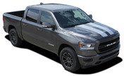 RAM RALLY : 2019 2020 Dodge Ram Racing Stripes Hood Decals Tailgate Vinyl Graphics Kit ( M-PDS-5644)