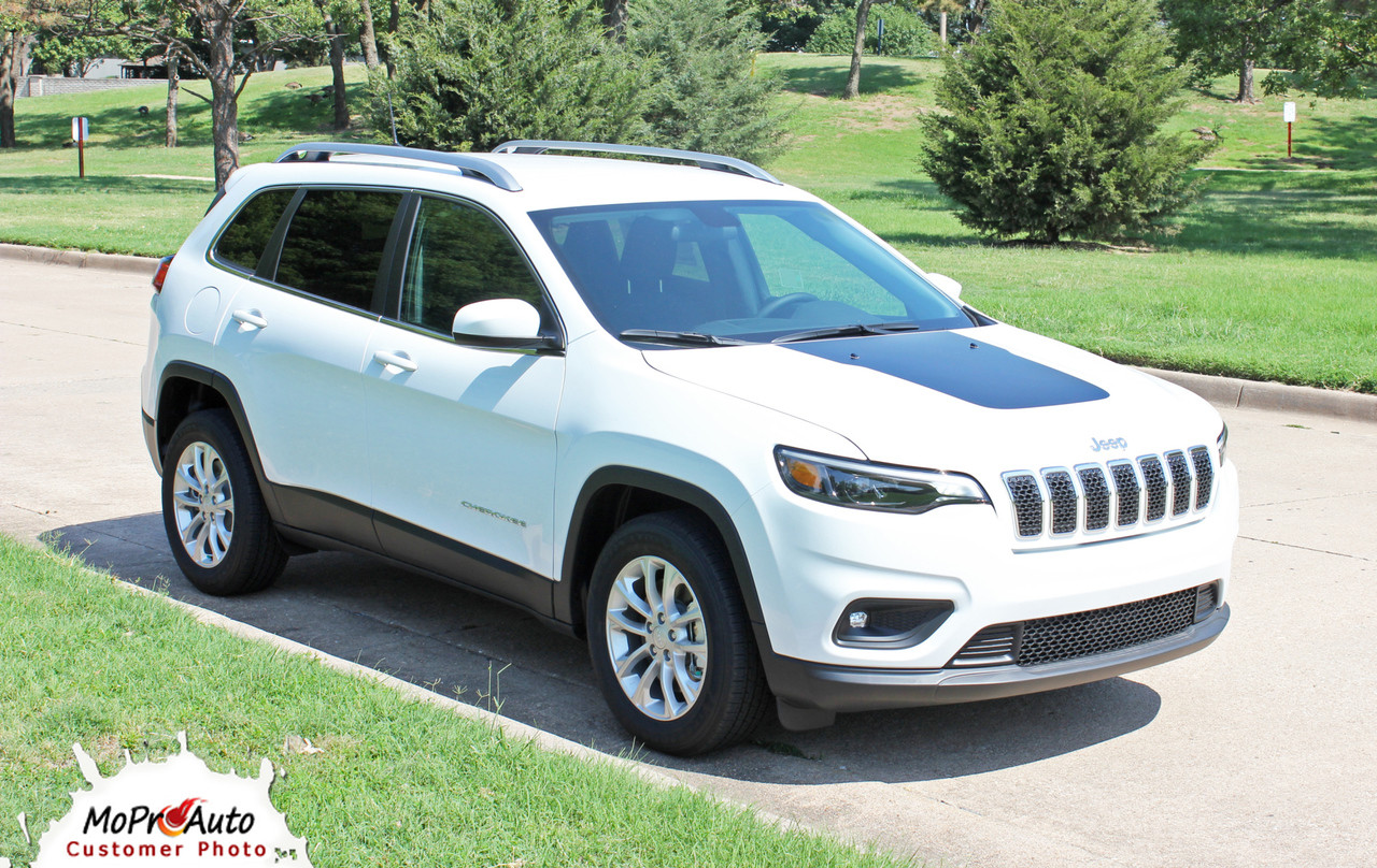 T-HAWK Jeep Cherokee Hood Graphic - MoProAuto Pro Design Series Vinyl Graphics, Stripes and Decals Kit