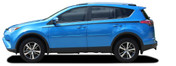 RAVAGE SIDES : 2016-2018 Toyota RAV4 Side Door Accent Vinyl Graphic Stripes Decal Kit (M-PDS-5789)