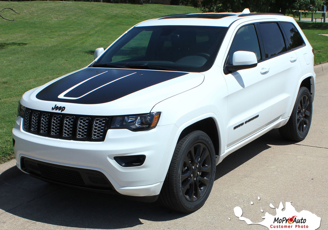 TRAIL HOOD Jeep Grand Cherokee Hood Graphic - MoProAuto Pro Design Series Vinyl Graphics, Stripes and Decals Kit