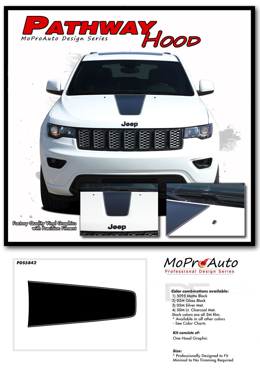 PATHWAY HOOD : Jeep Grand Cherokee Center Hood Decal ...