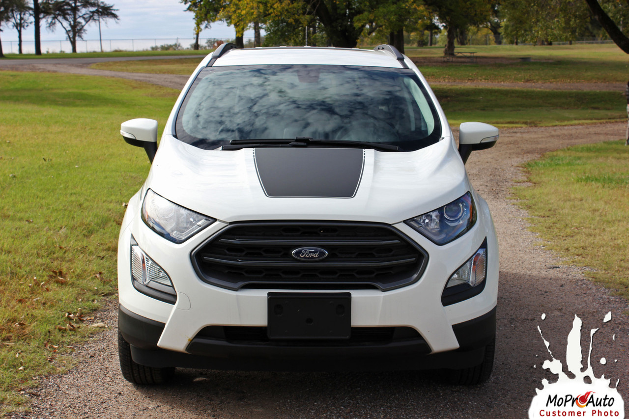 AMP HOOD Ford EcoSport - MoProAuto Pro Design Series Vinyl Graphics, Stripes and Decals Kit