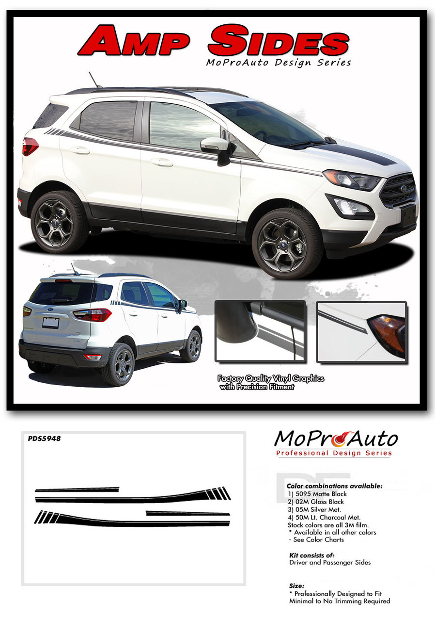 2013 2014 2015 2016 2017 AMP SIDES Ford EcoSport - MoProAuto Pro Design Series Vinyl Graphics, Stripes and Decals Kit