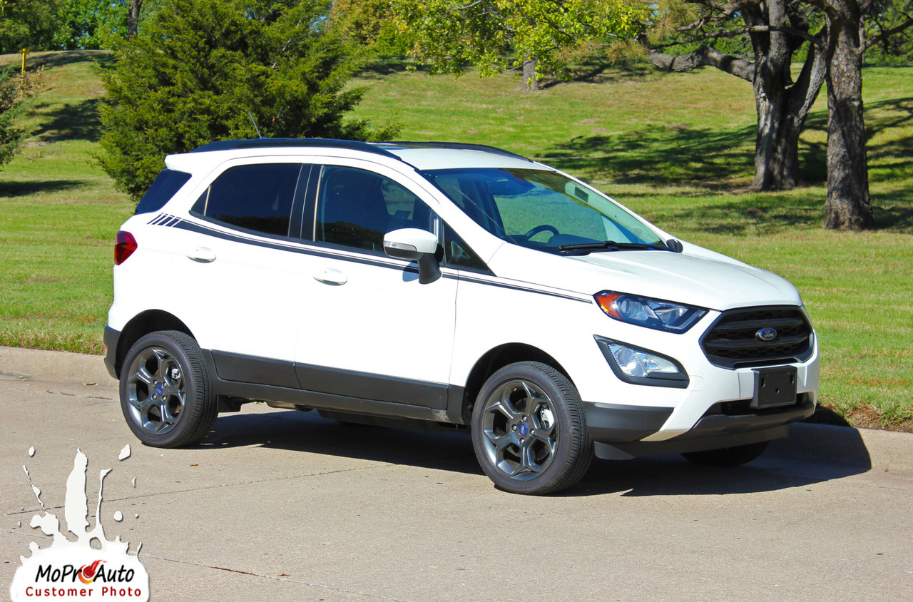 AMP SIDES Ford EcoSport - MoProAuto Pro Design Series Vinyl Graphics, Stripes and Decals Kit