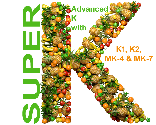 Life Extension Super K with Advanced K2 Complex with K-1, K-2, MK-4, & MK-7